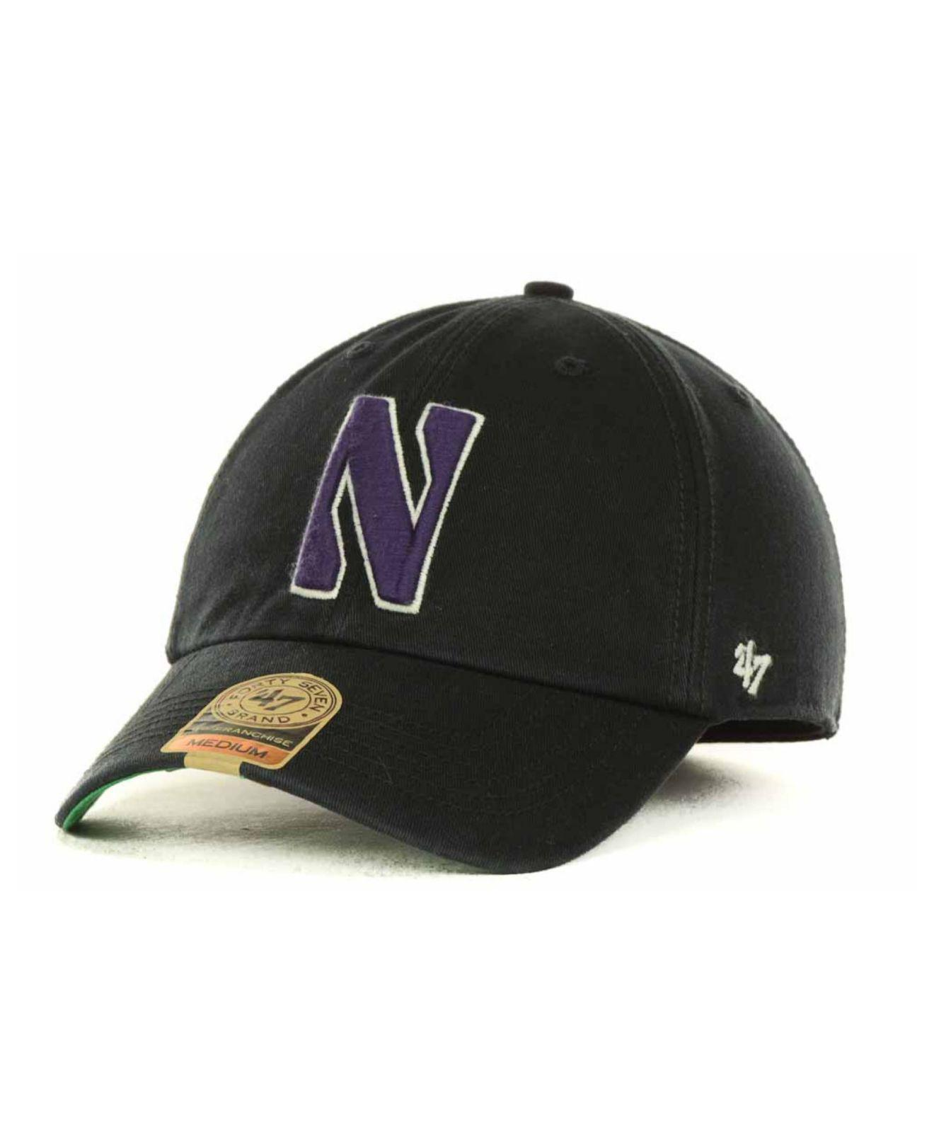 Lyst - 47 Brand Northwestern Wildcats Franchise Cap in Black for Men 0b3aa9f6e777
