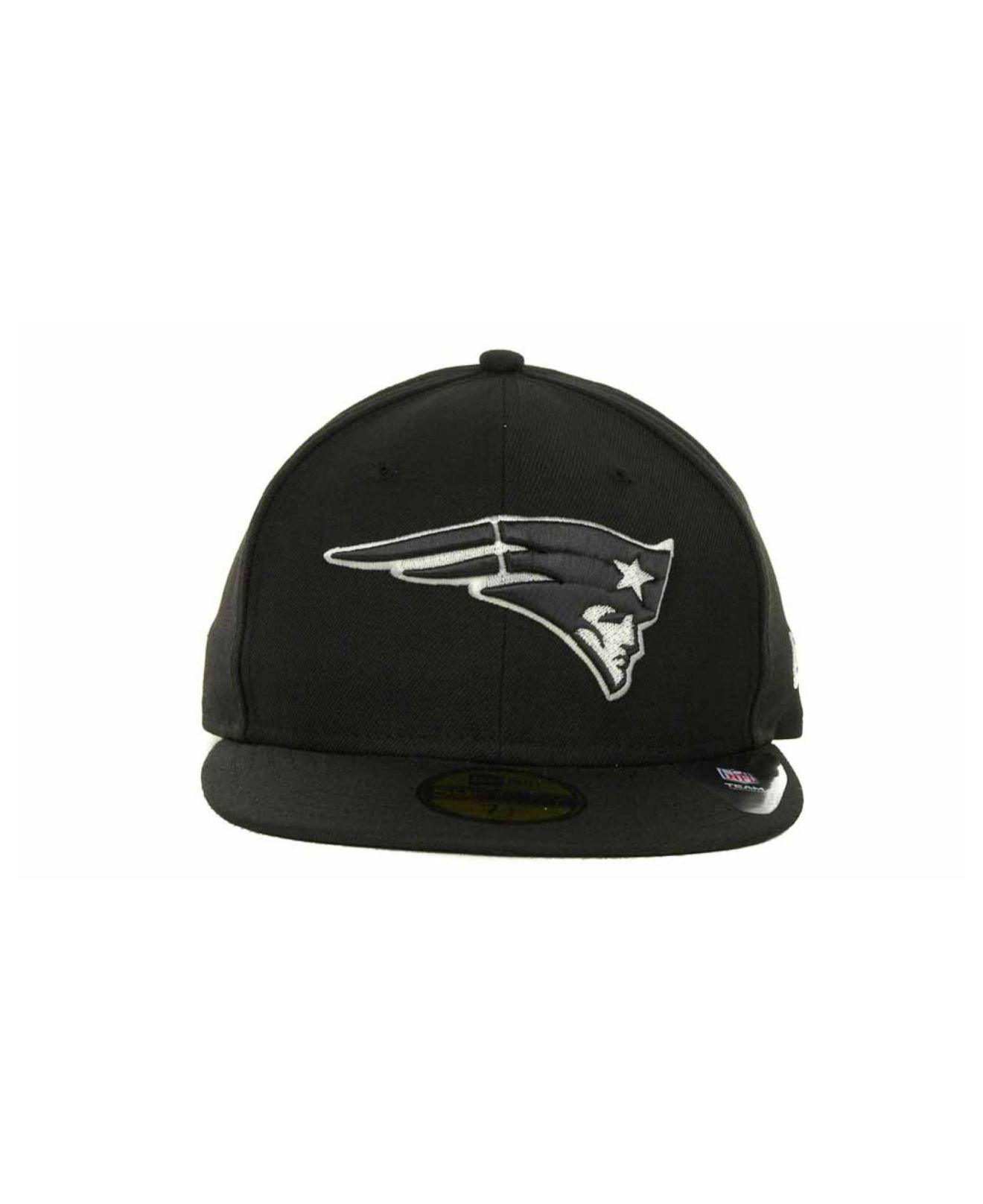 Lyst - Ktz New England Patriots 59fifty Cap in Black for Men 0441e9150