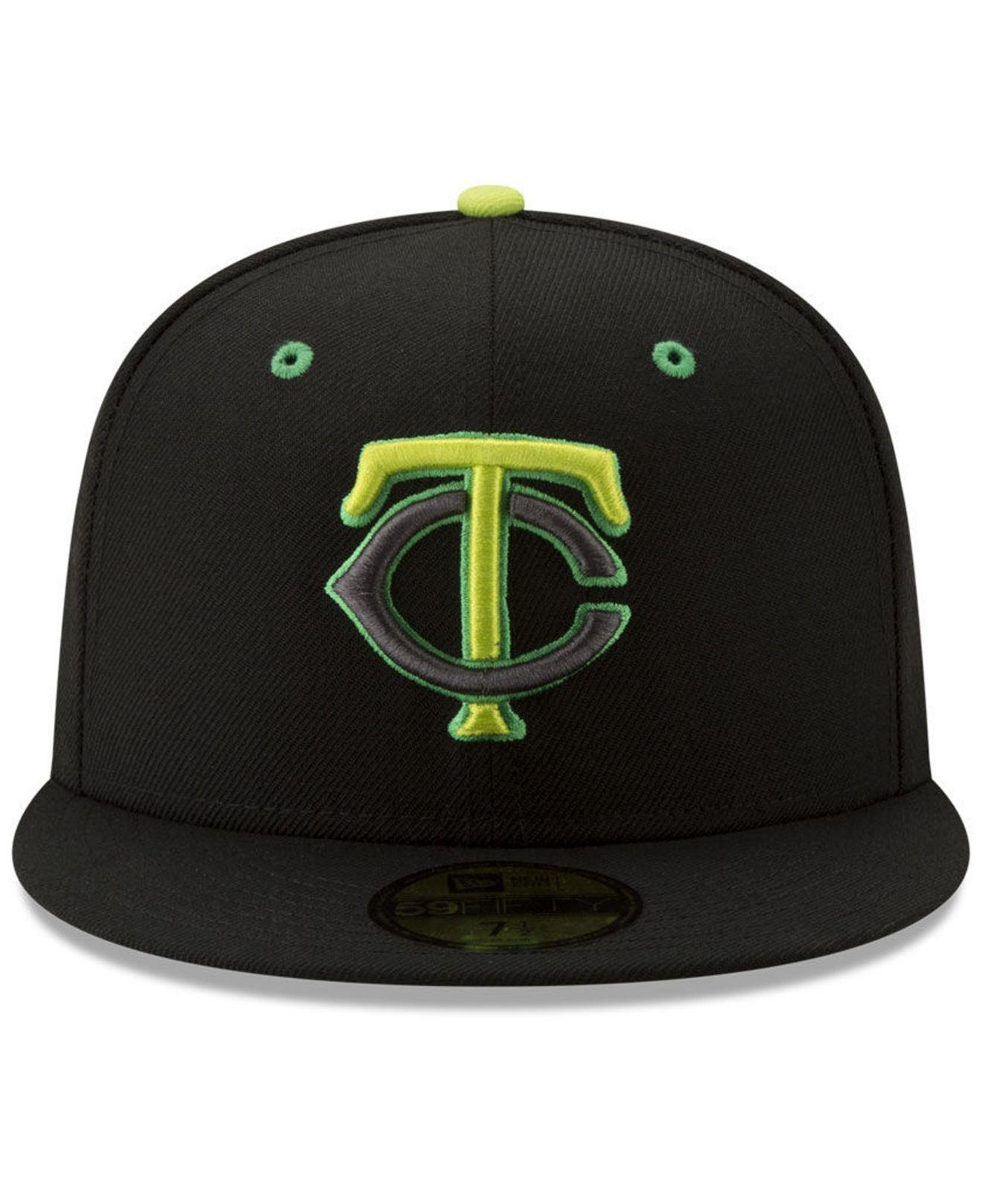 quality design fe72a c7f00 Lyst - KTZ Minnesota Twins Night Moves 59fifty Fitted Cap in Black for Men