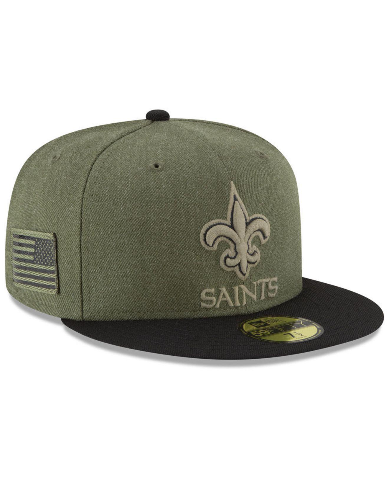 the best attitude 3fac1 6a118 Lyst - KTZ New Orleans Saints Salute To Service 59fifty Fitted Cap ...