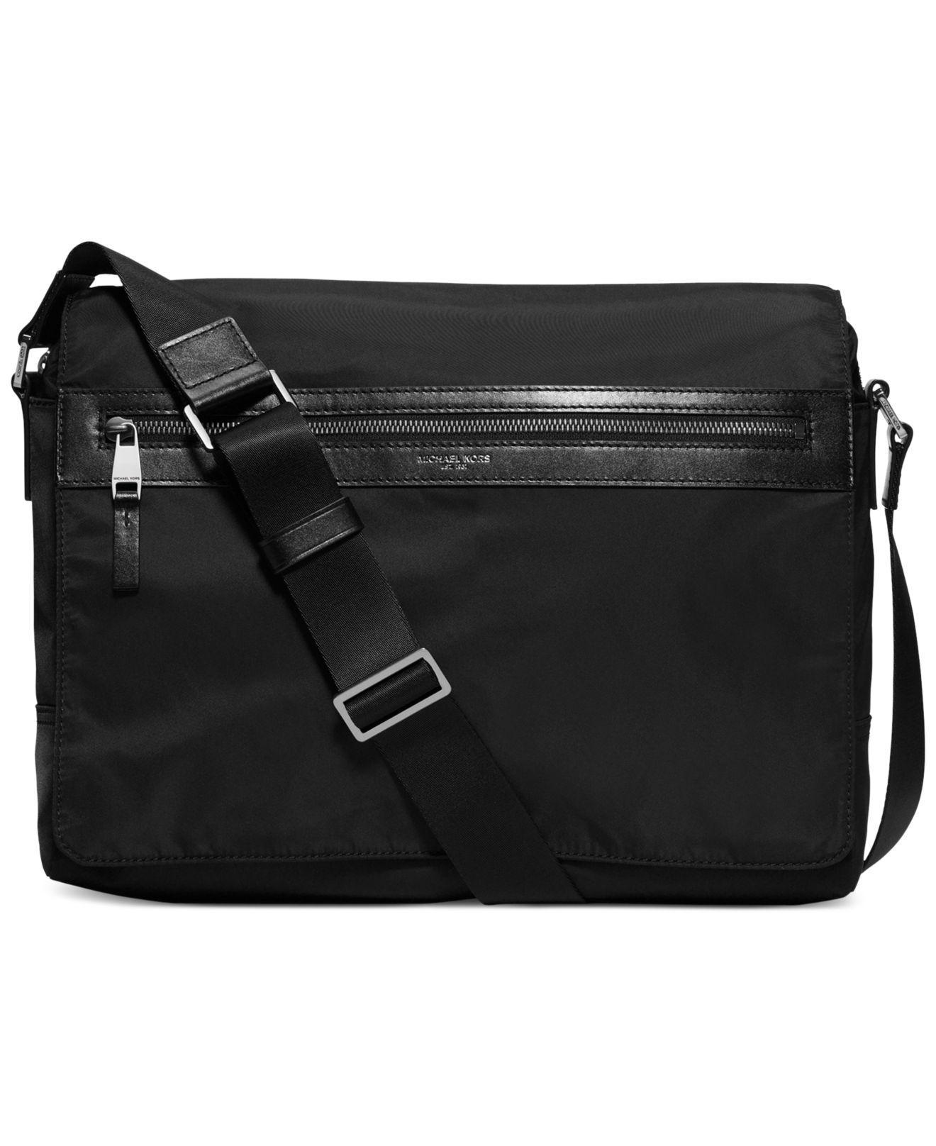 5322014a6d17 Michael Kors Kent Large Messenger in Black for Men - Save 7% - Lyst