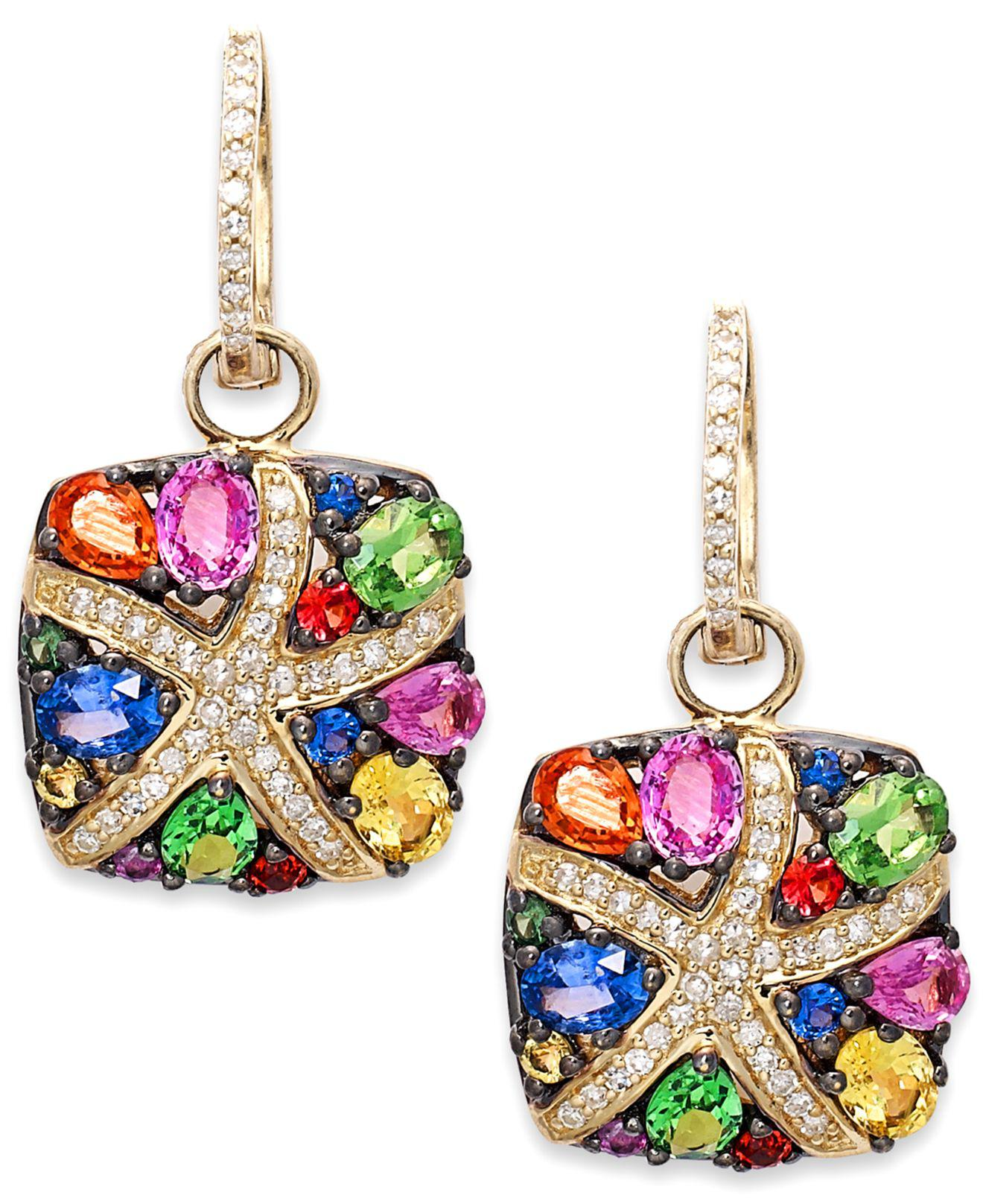 Effy Collection Multicolour Sapphire 3 1 3 Ct T W And