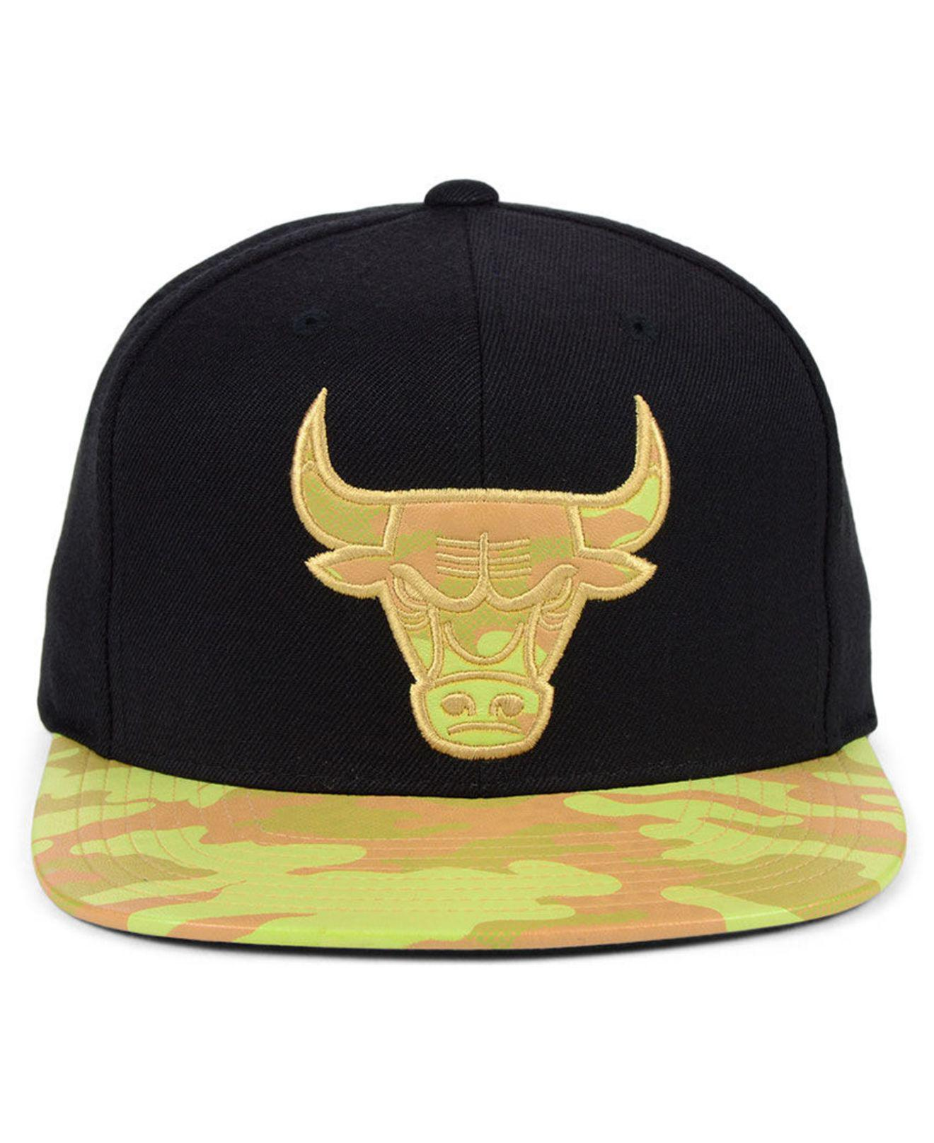 reputable site 3d4ed 90b00 Lyst - Mitchell   Ness Chicago Bulls Natural Camo Snapback Cap in Black for  Men