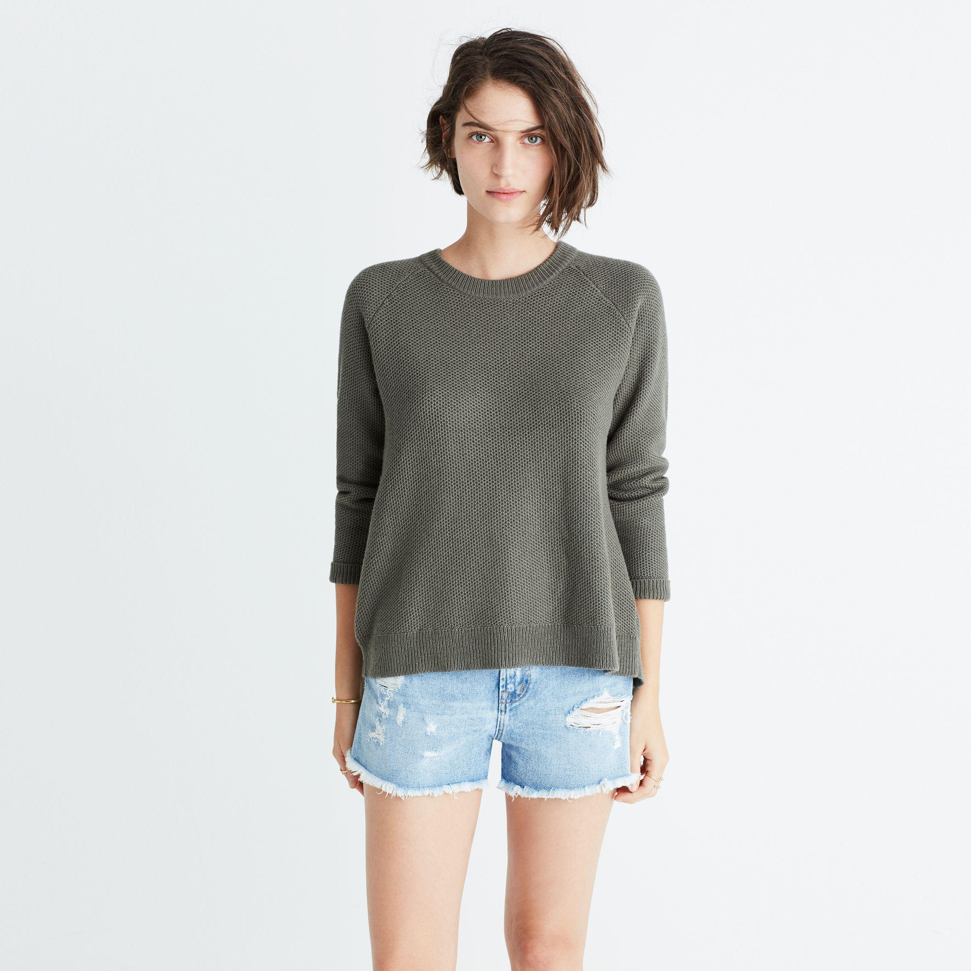 Madewell Province Cross-back Pullover Sweater in Green | Lyst
