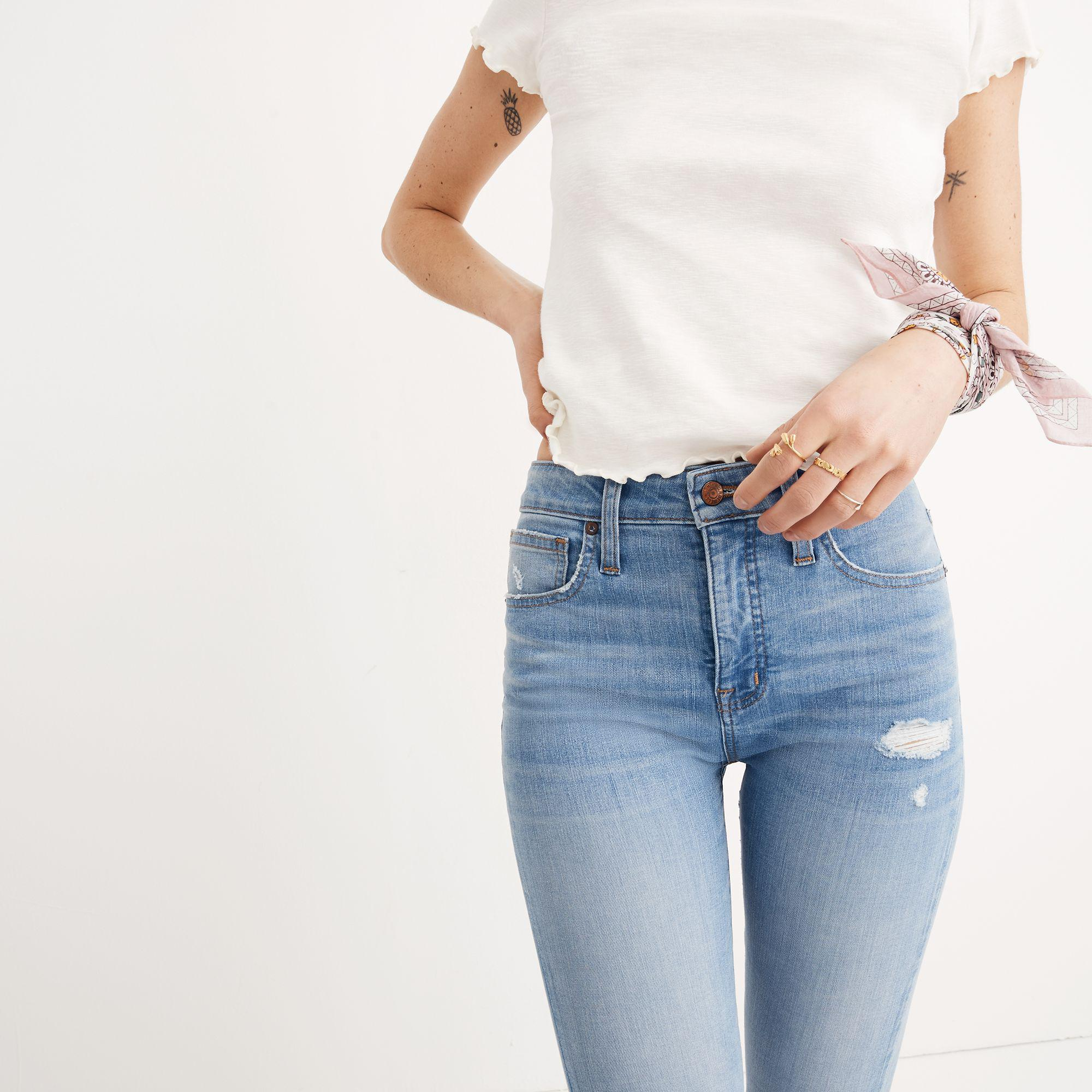 ac8ee16fe1d Madewell Short Curvy High-rise Skinny Jeans In Ontario: Distressed ...