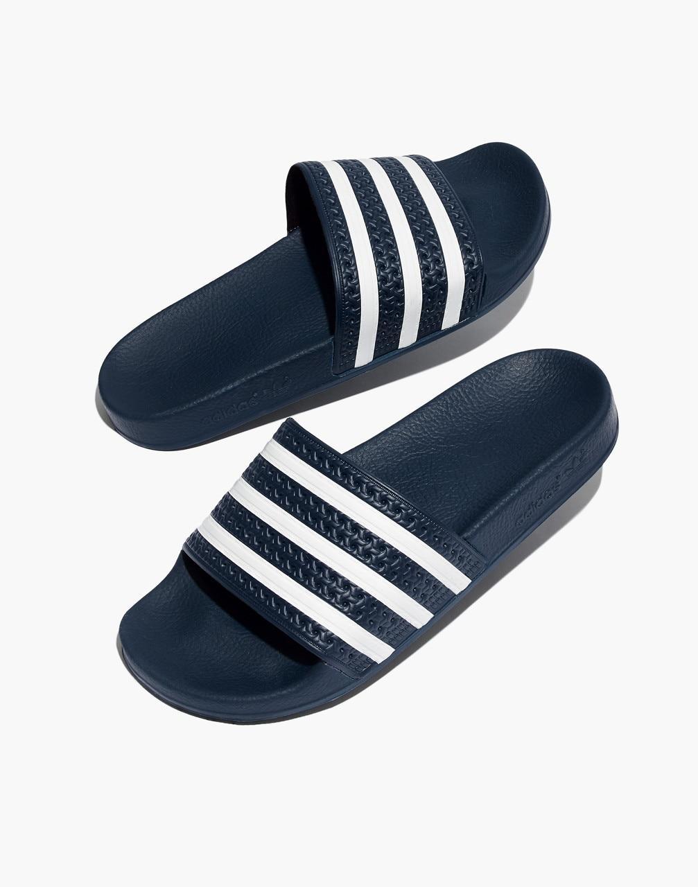 info for bb6e0 dabd8 Madewell - Blue Adidas Unisex Adilette Slides - Lyst. View fullscreen
