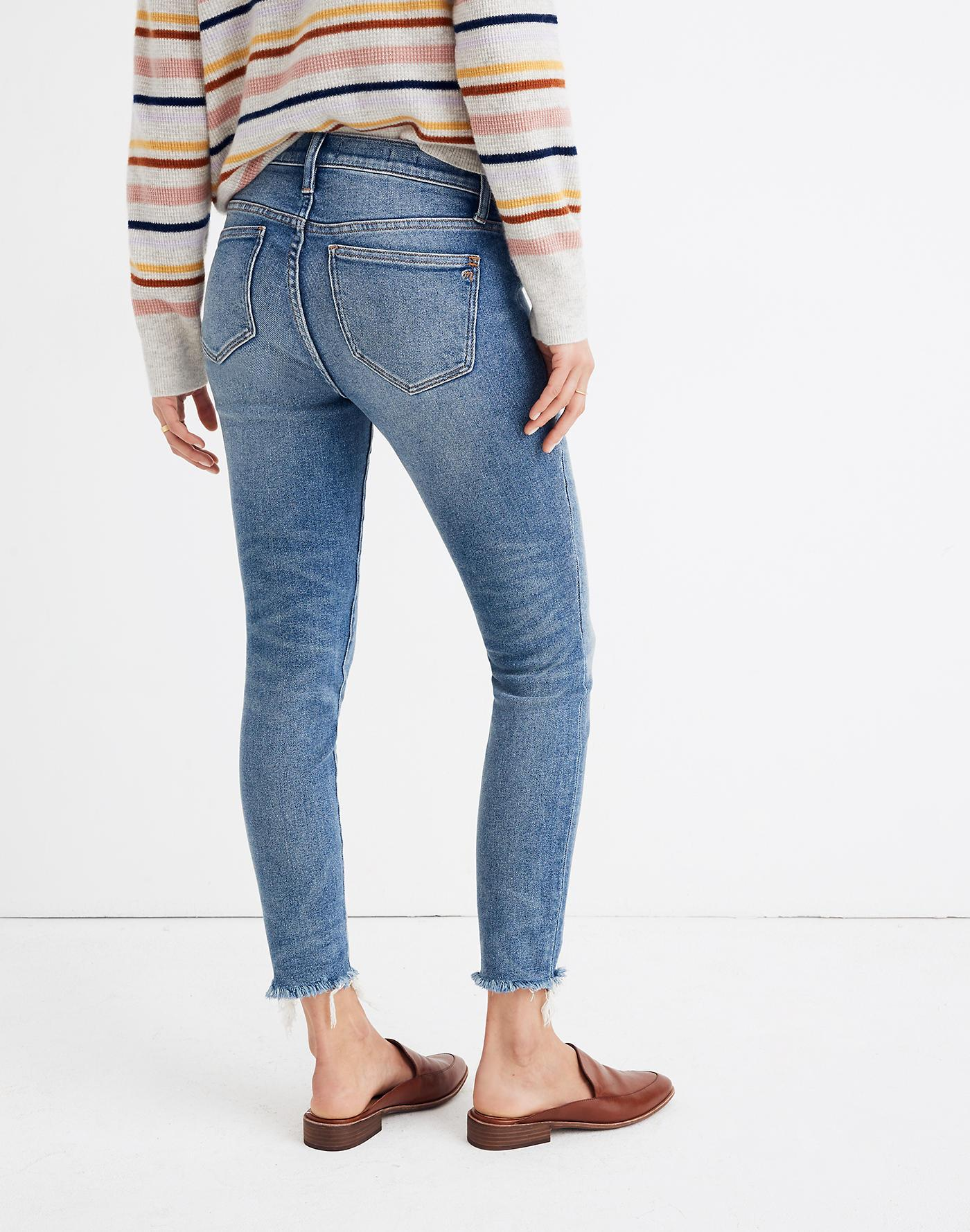 375ba3a6df0f1 Madewell Maternity Side-panel Skinny Jeans In Cordova Wash ...