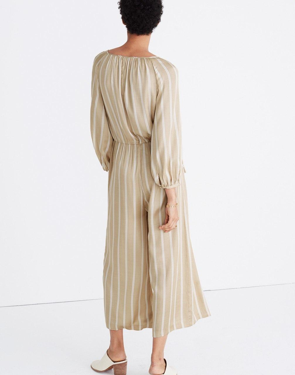 9f7687f27613 Madewell Striped Cypress Jumpsuit in Natural - Lyst