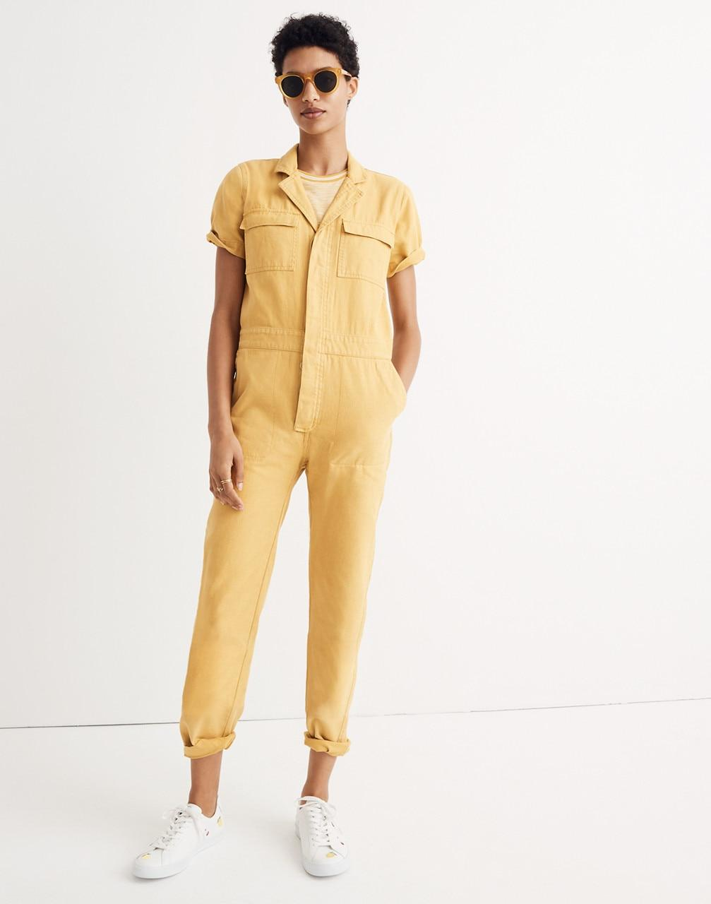 34e386beca8e Lyst - Madewell Short-sleeve Coverall Jumpsuit
