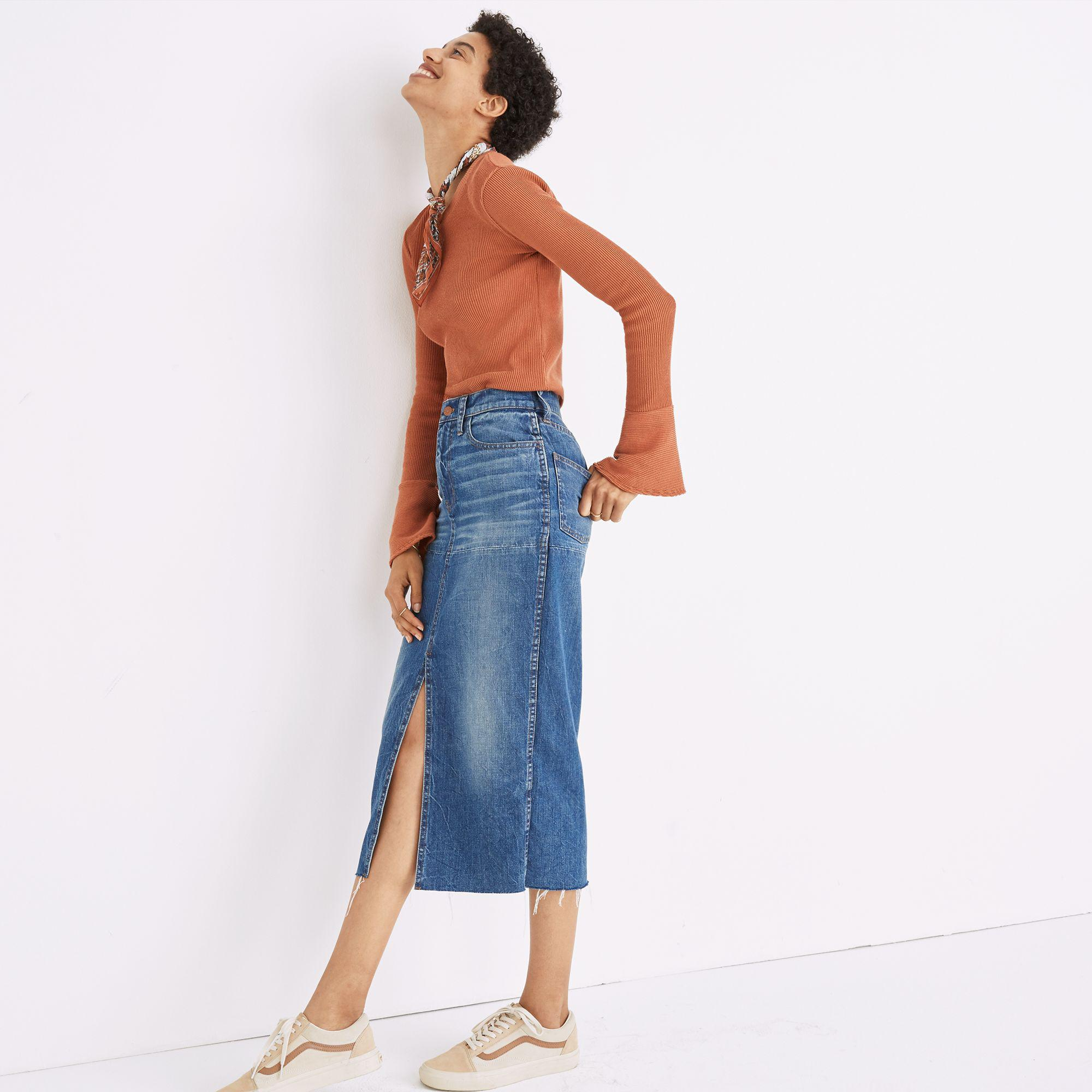 03edf86f8b Madewell Midi Denim Skirt – DACC