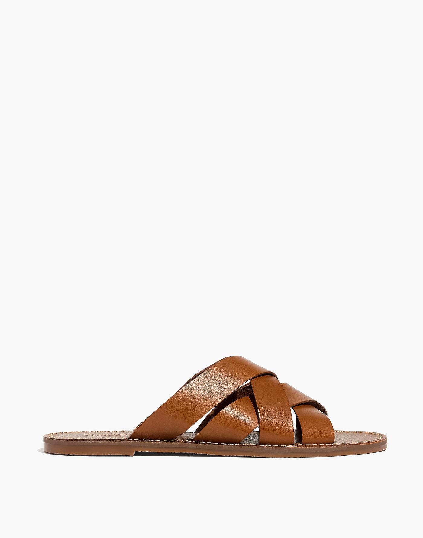 4d802cb6e6e1 Madewell - Brown The Boardwalk Woven Slide Sandal - Lyst. View fullscreen