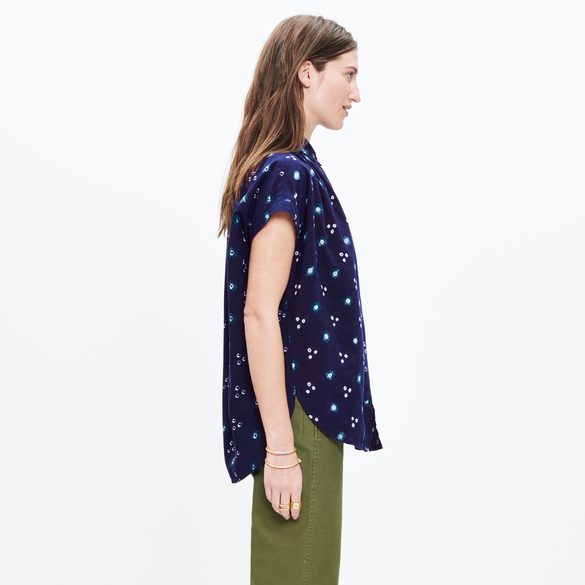 9bc35ebb151 Lyst - Madewell Central Shirt In Indigo Shibori in Blue