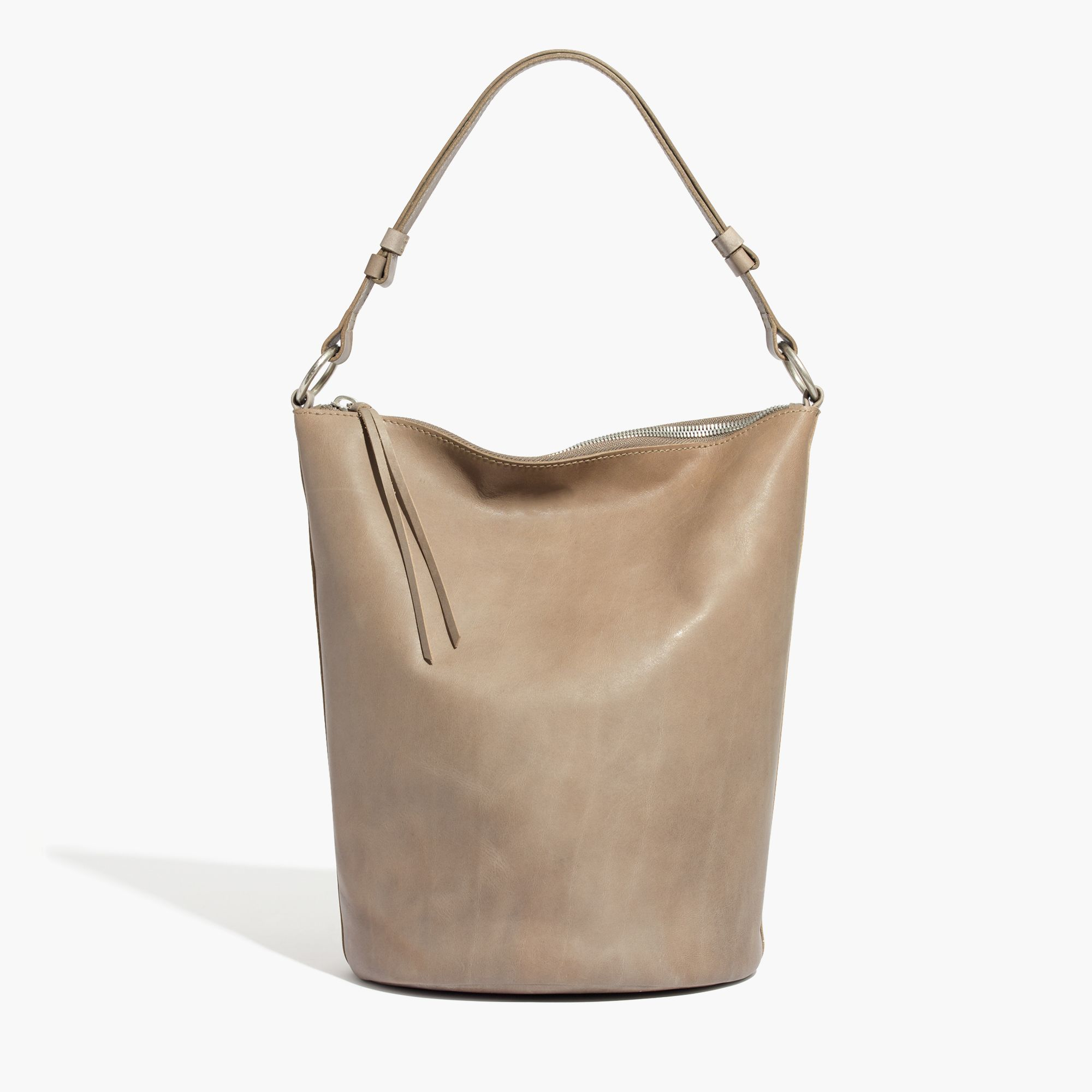 9cc2b292b97e Madewell The Lisbon O-ring Bucket Bag In Leather in Gray - Lyst