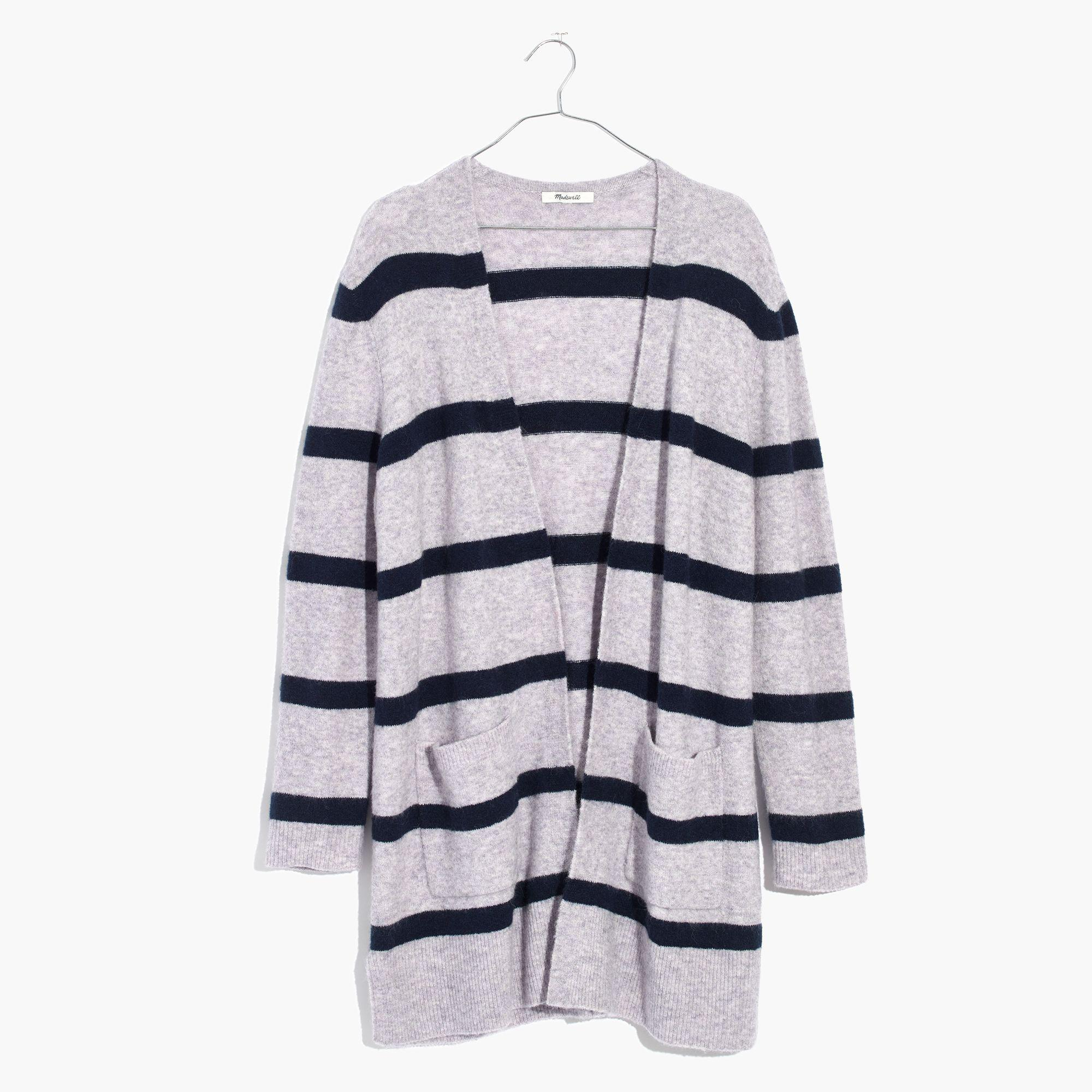 d6f87cabc1 Lyst - Madewell Kent Cardigan Sweater In Stripe in Blue