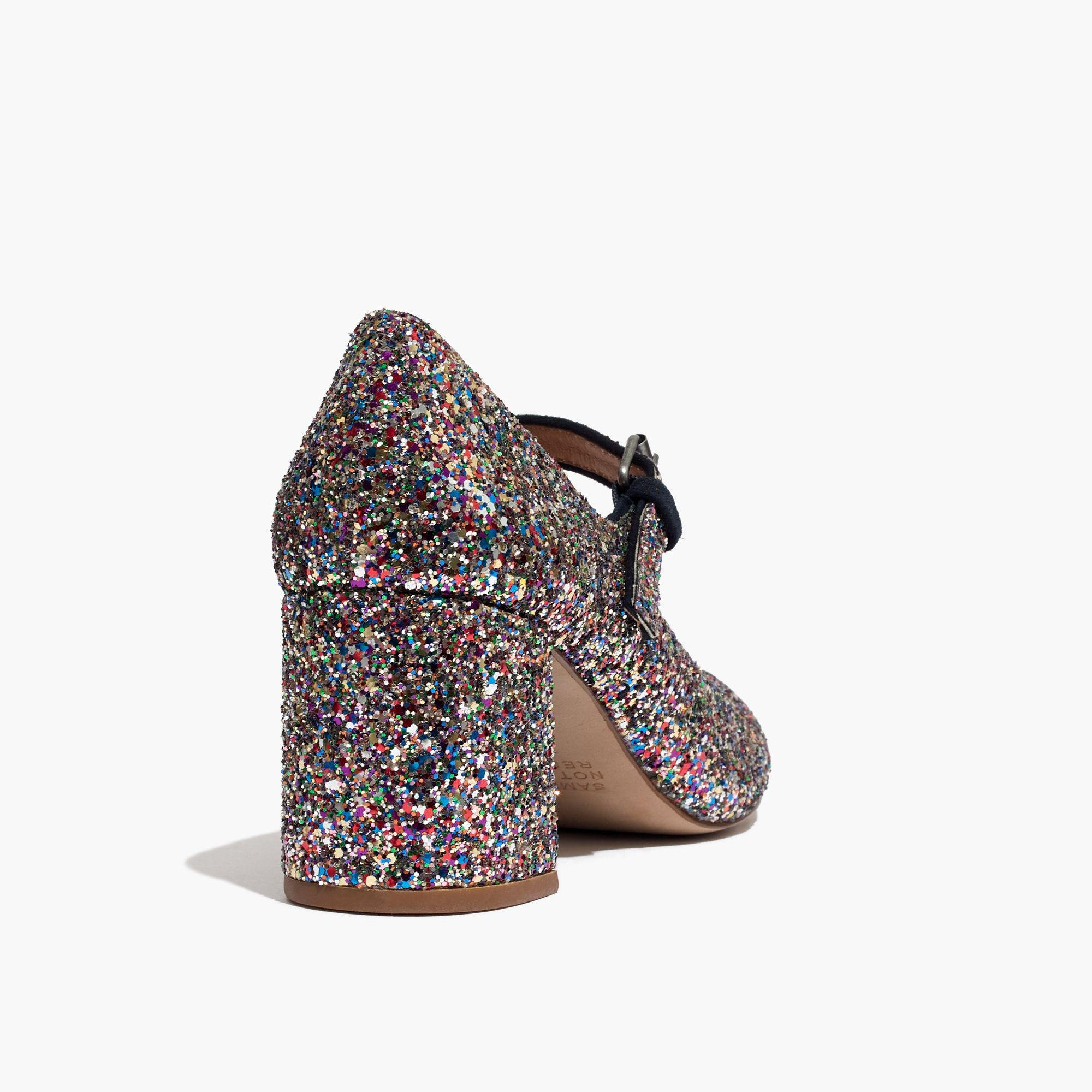 a20c3034273c Lyst - Madewell The Zelda Mary Jane In Glitter