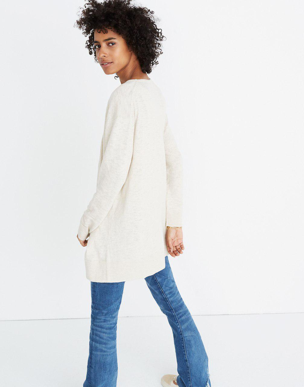 2dcc003281 Lyst - Madewell Summer Ryder Cardigan Sweater in Natural