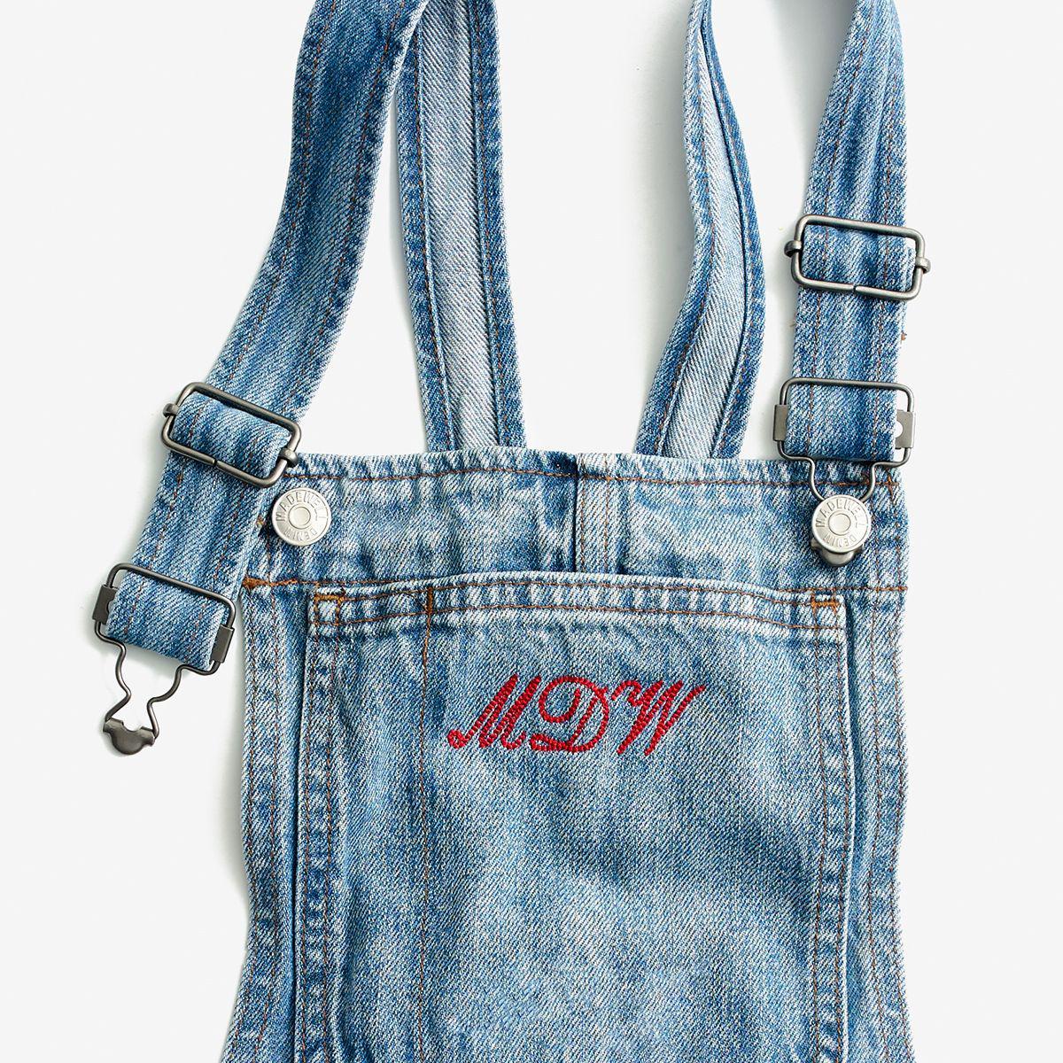 02a17f74d1a Lyst - Madewell Denim Zip Romper in Blue