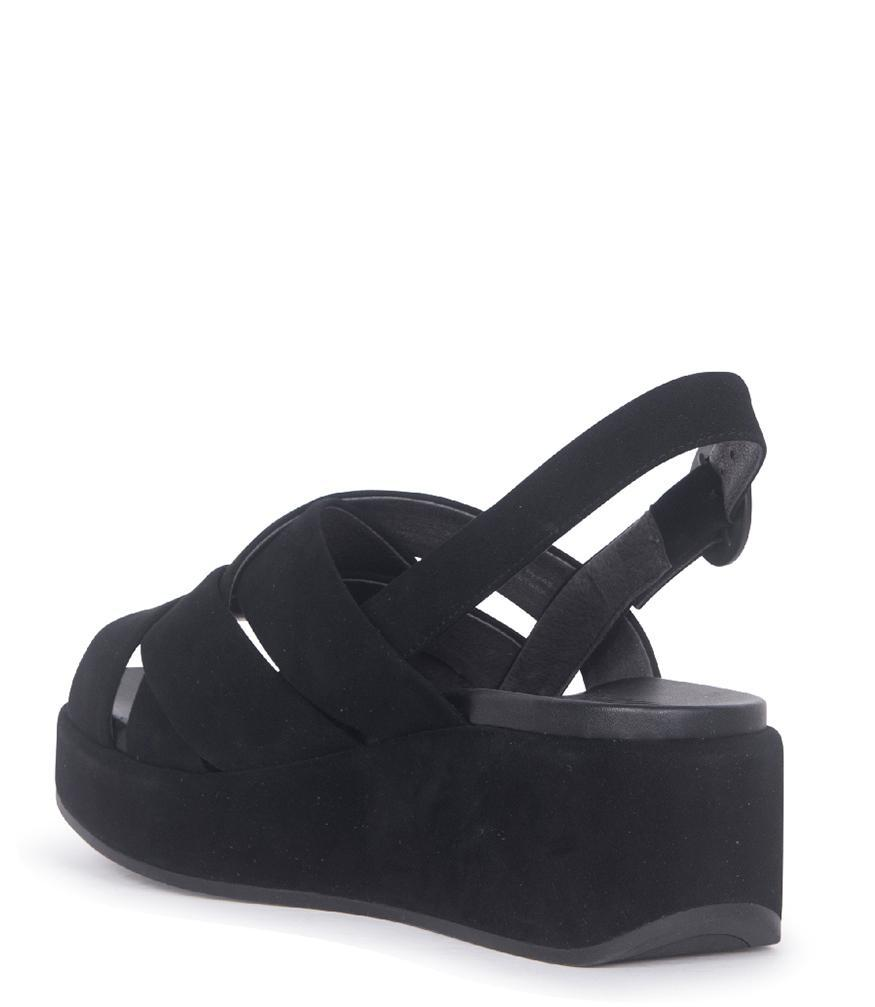 b91a769c7ac Lyst - Camper Black Nubuck Misia Platform Sandals in Black