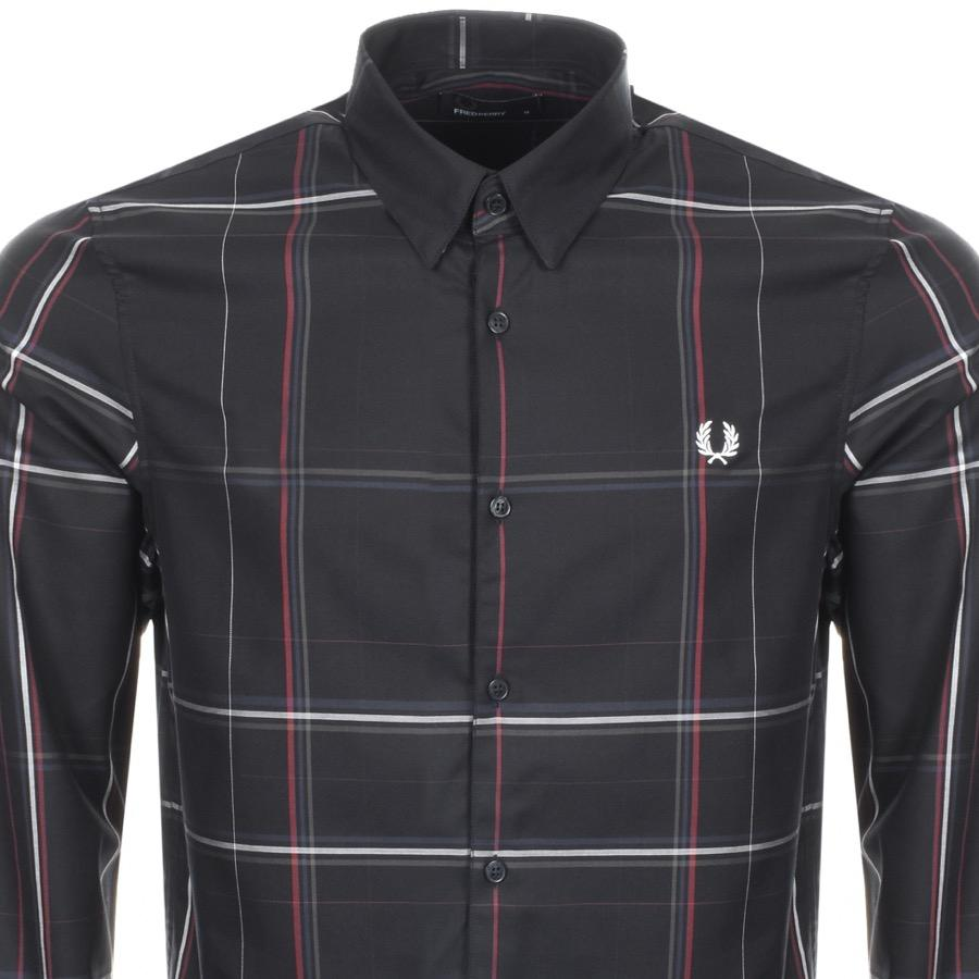 a995a143 Fred Perry Enlarged Check Shirt Black in Black for Men - Lyst