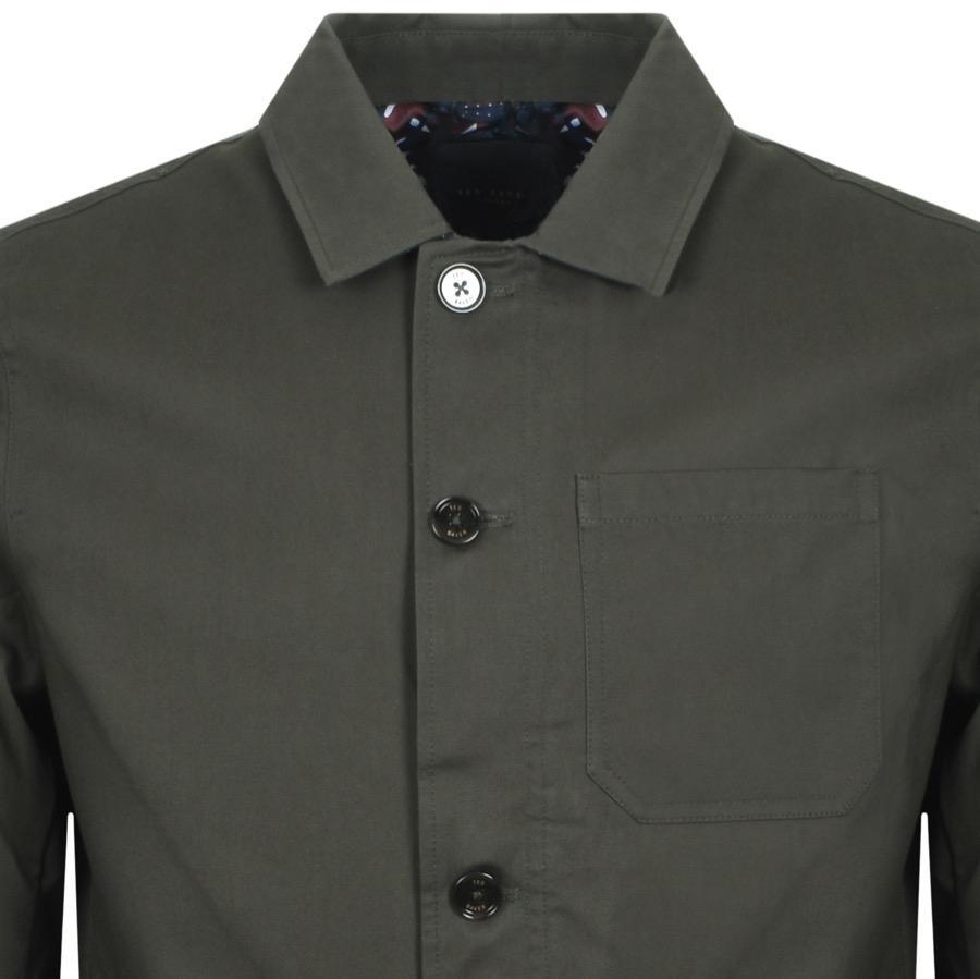 f32b853d702f34 Ted Baker - Multicolor Grapes Button Jacket Khaki for Men - Lyst. View  fullscreen