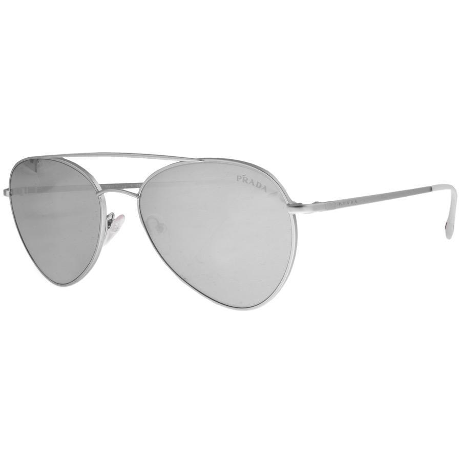 6f69c74d0e703 Lyst - Prada Linea Rossa Aviator Sunglasses Silver in Metallic for Men