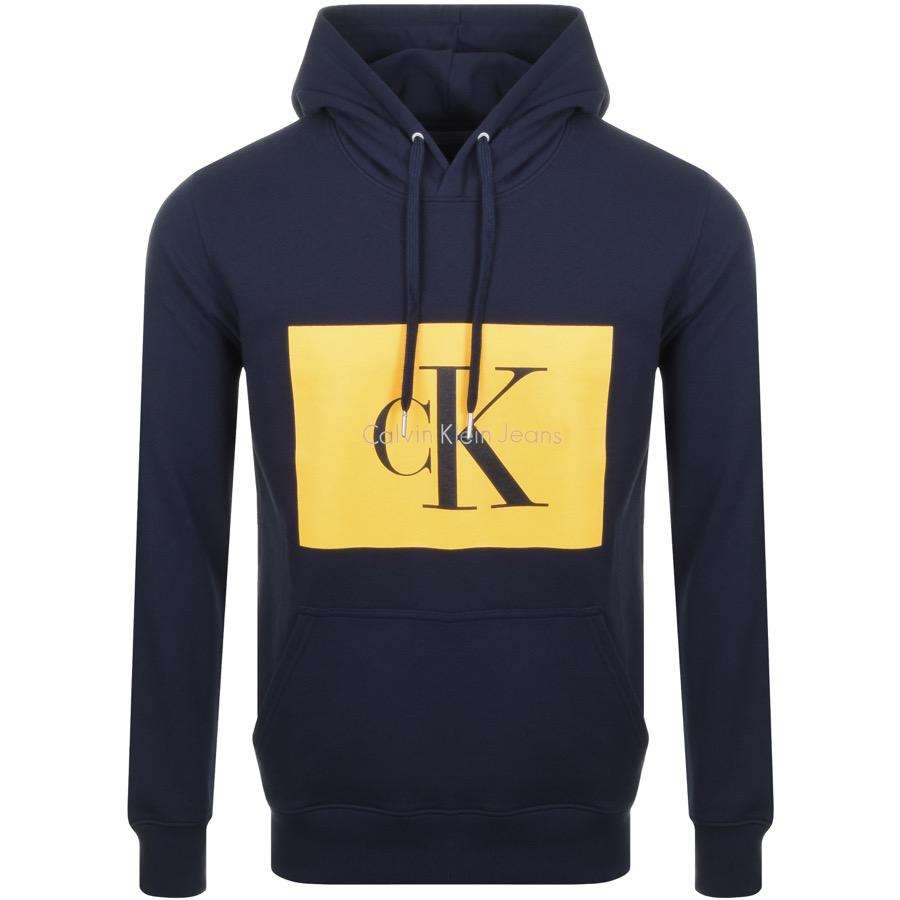 Calvin Klein Hotoro 2 Logo Hoodie Navy in Blue for Men - Lyst 040e7ec99a