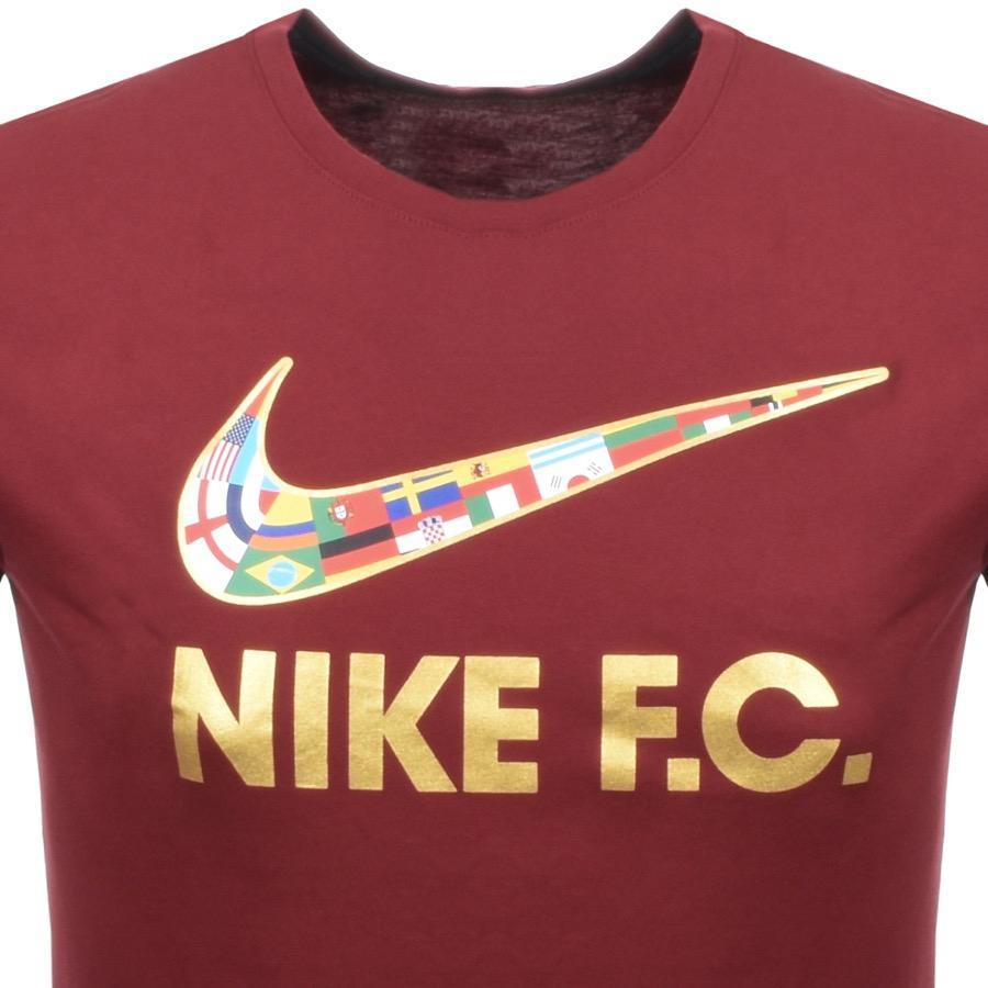 b14f3db4898d Lyst - Nike Fc Flag Swoosh Logo T Shirt Burgundy in Red for Men