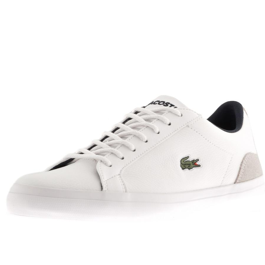 274600668 Lacoste Lerond Trainers White in White for Men - Lyst