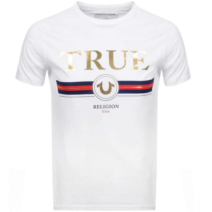 3ec4c4ae True Religion Horseshoe Logo T Shirt White in White for Men - Lyst