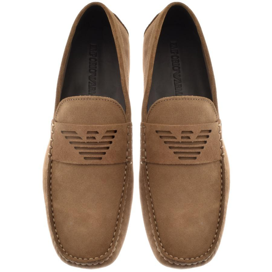 Armani Emporio Driver Shoes Brown In For Men Save D Island Casual Slip On England Suede View Fullscreen