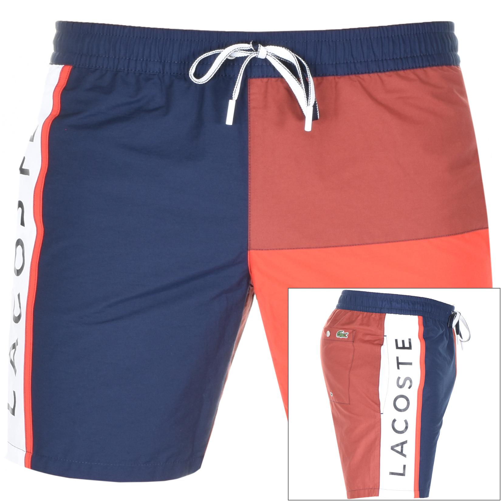 48d33a55a5c964 Lacoste - Blue Logo Swim Shorts Navy for Men - Lyst. View fullscreen