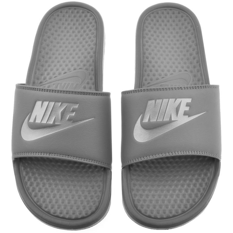 reputable site 367c5 f0e60 Nike Benassi Jdi Flip Flops Grey in Gray for Men - Lyst