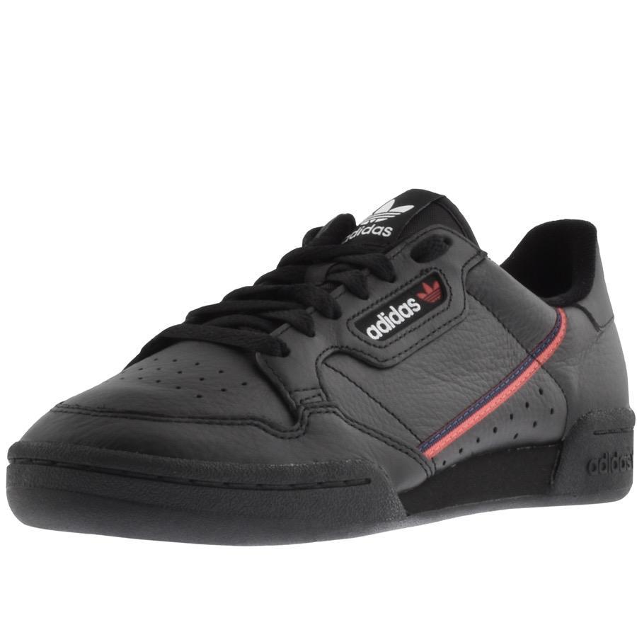 adidas originali continental 80 formatori nero in nero per gli uomini lyst