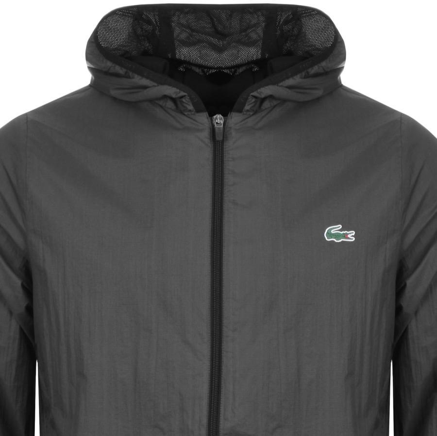 a384cbc4e4c8 Lacoste Sport Full Zip Hooded Jacket Black in Black for Men - Lyst