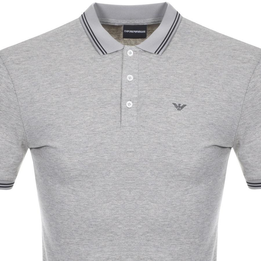 82238e41 Armani - Gray Emporio Short Sleeved Polo T Shirt Grey for Men - Lyst. View  fullscreen