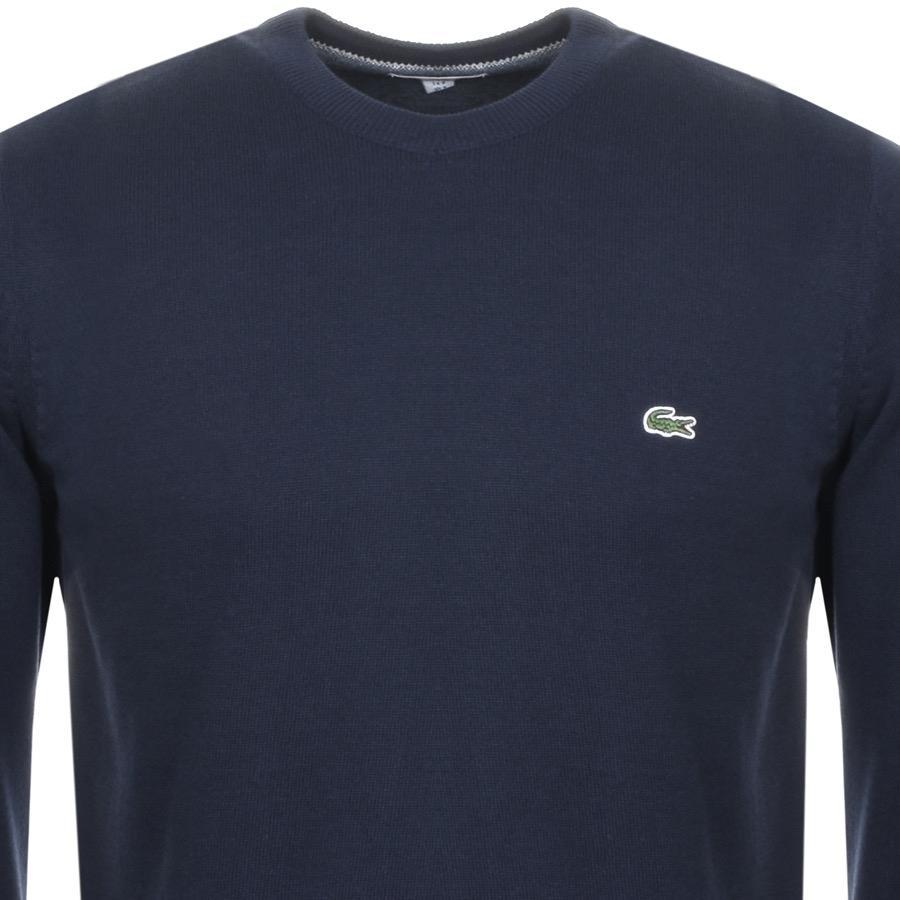 25451cc5d1 Lacoste - Blue Crew Neck Knit Jumper Navy for Men - Lyst. View fullscreen
