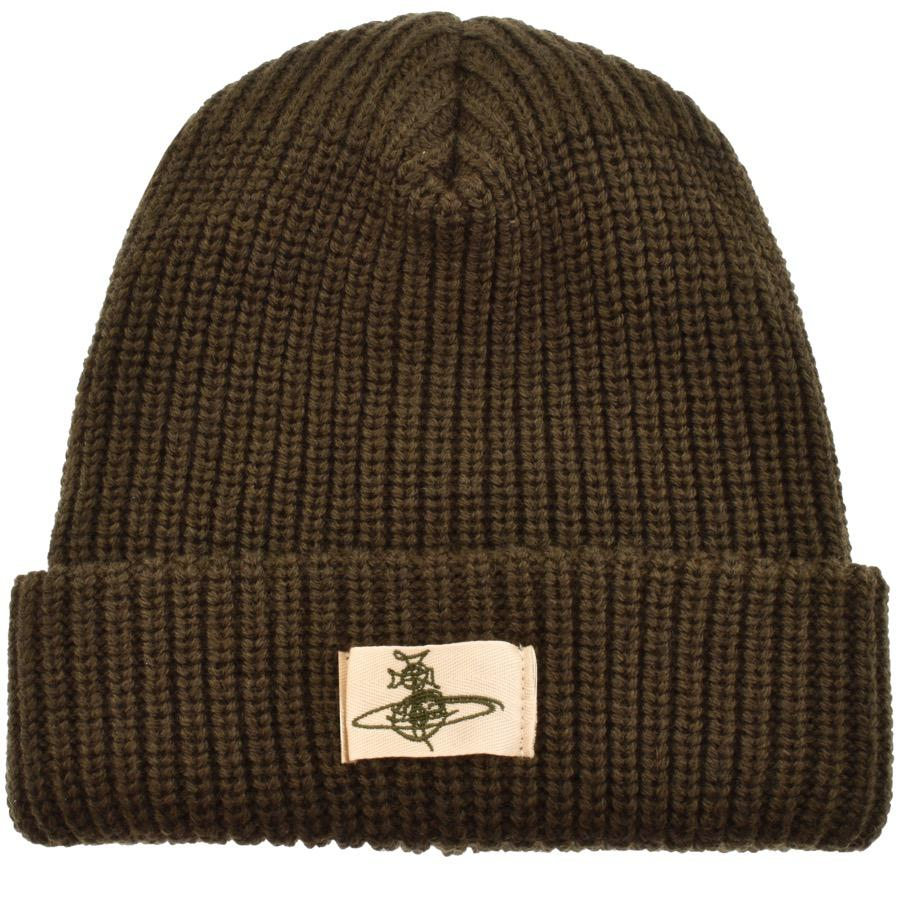 50d672f1e6f Vivienne Westwood Knit Beanie Hat Green in Green for Men - Lyst