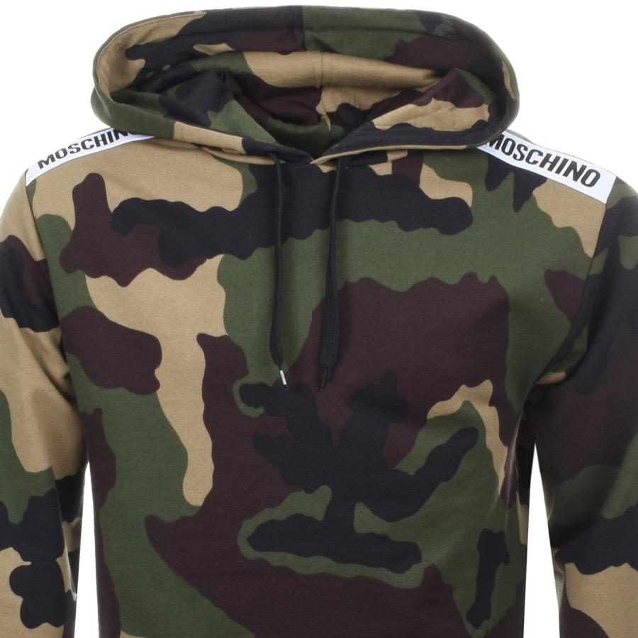 f519a8a6c5099 Moschino Camo Hoodie Green in Green for Men - Lyst