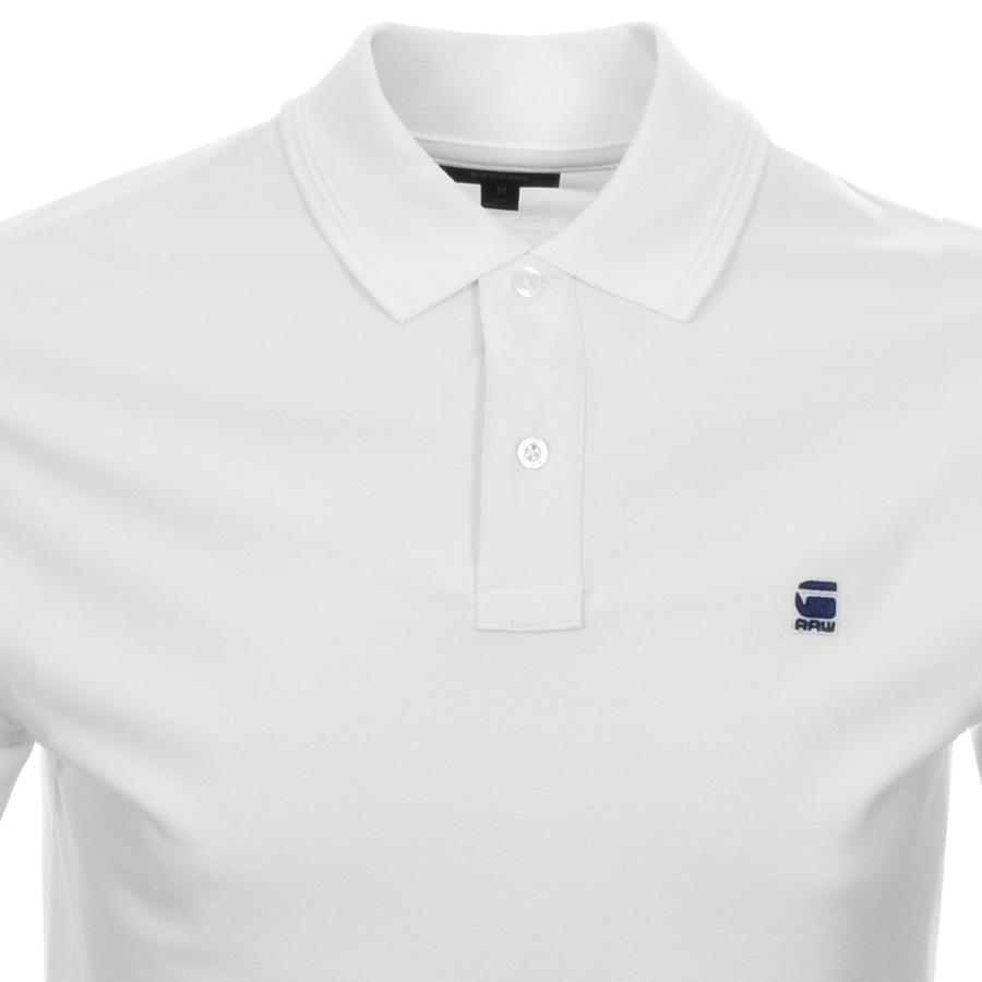 ef619f0b297 G-Star RAW Dunda Polo T Shirt White in White for Men - Lyst