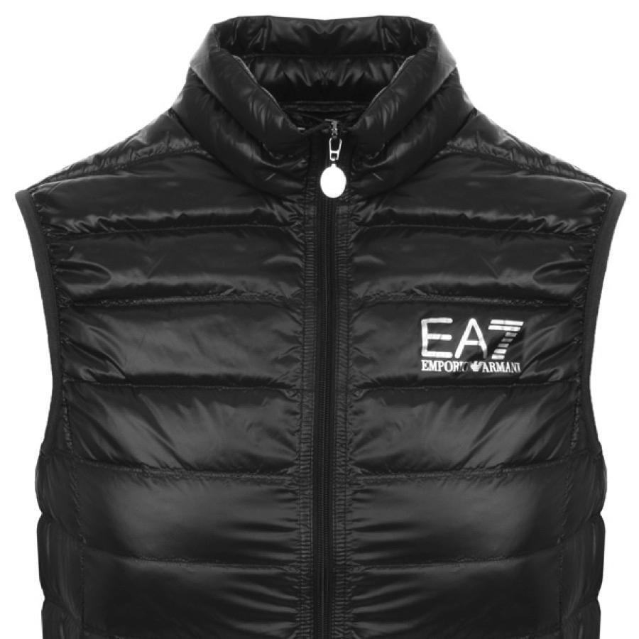 4eacdd63762 Ea7 Quilted Gilet Black in Black for Men - Save 54.61538461538461 ...