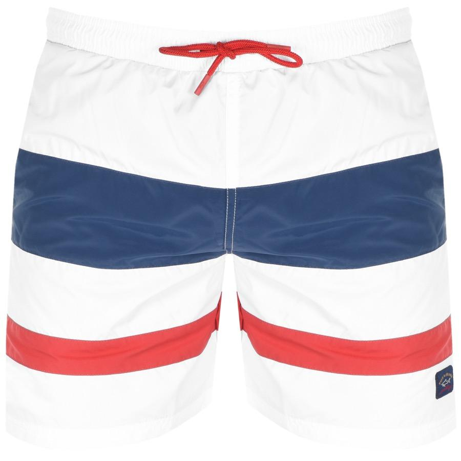 b0916ac43c Paul & Shark Paul And Shark Swim Shorts White in White for Men - Lyst