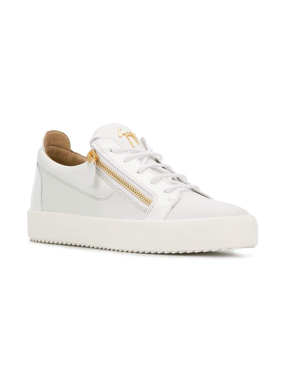 4dbca51f0659f Lyst - Giuseppe Zanotti Design Frankie Low-top Sneakers in White for Men
