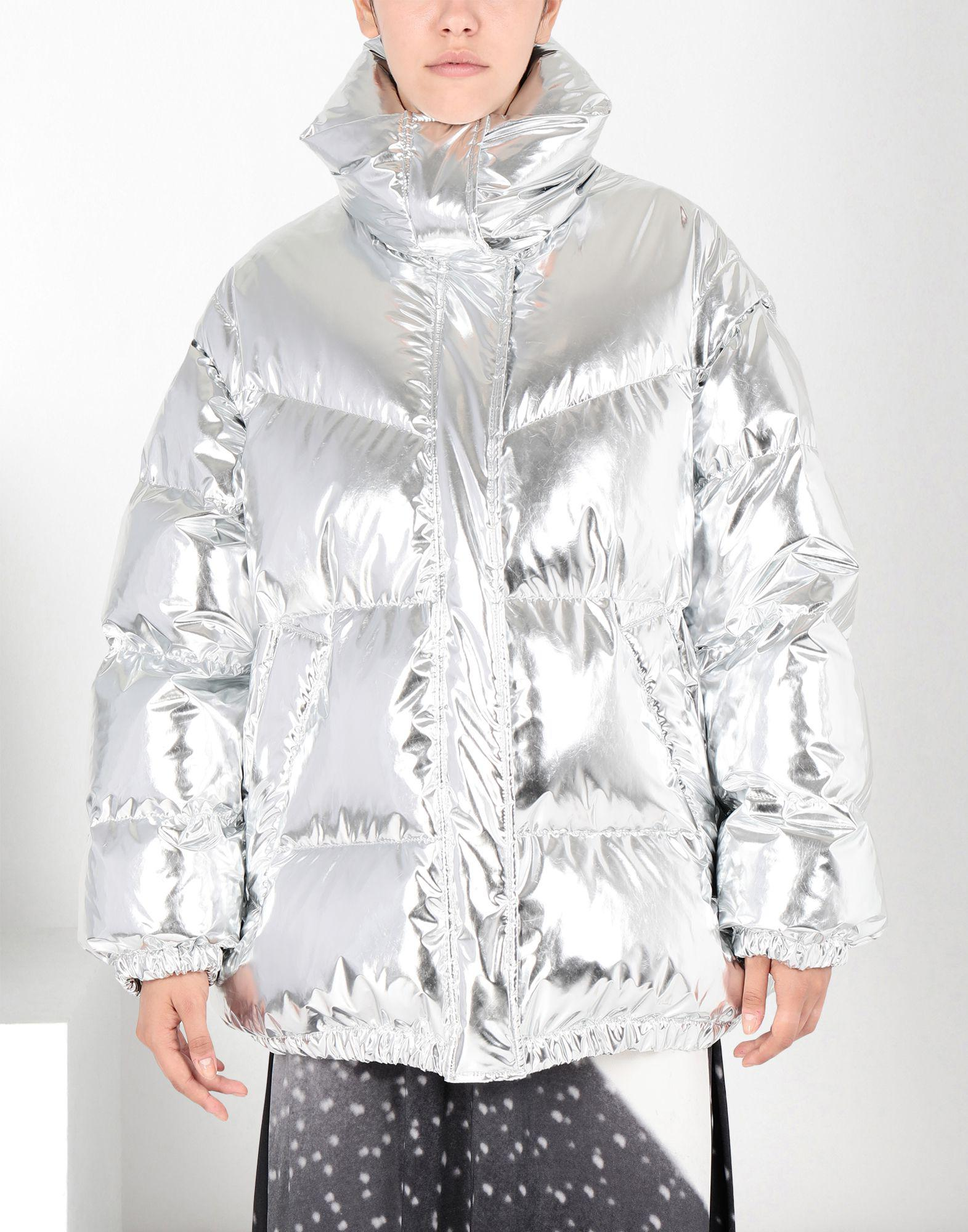 Mm6 By Maison Martin Margiela Silver Puffer Jacket in ...