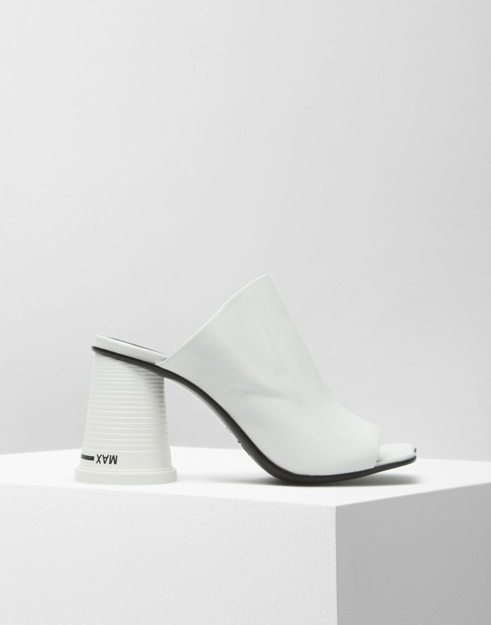 fddf2dc6b741 Mm6 By Maison Martin Margiela Cup-heel Mules in White - Lyst