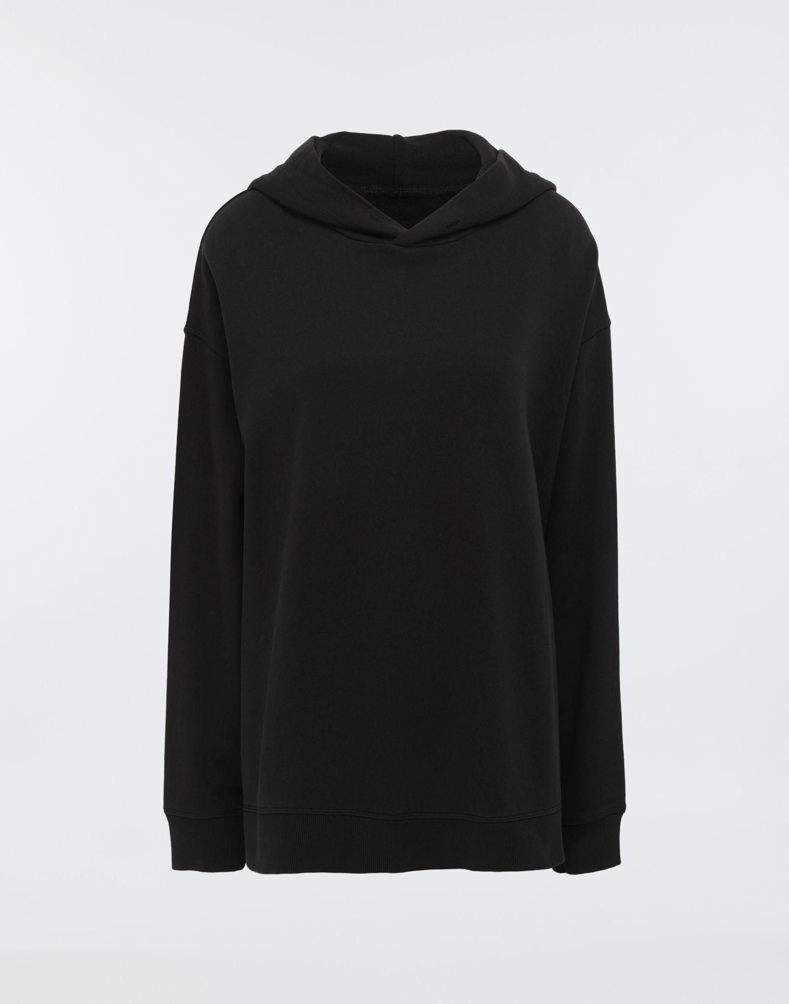 11ed0b046b MM6 by Maison Martin Margiela. Women s Black Logo-print Hooded Sweatshirt