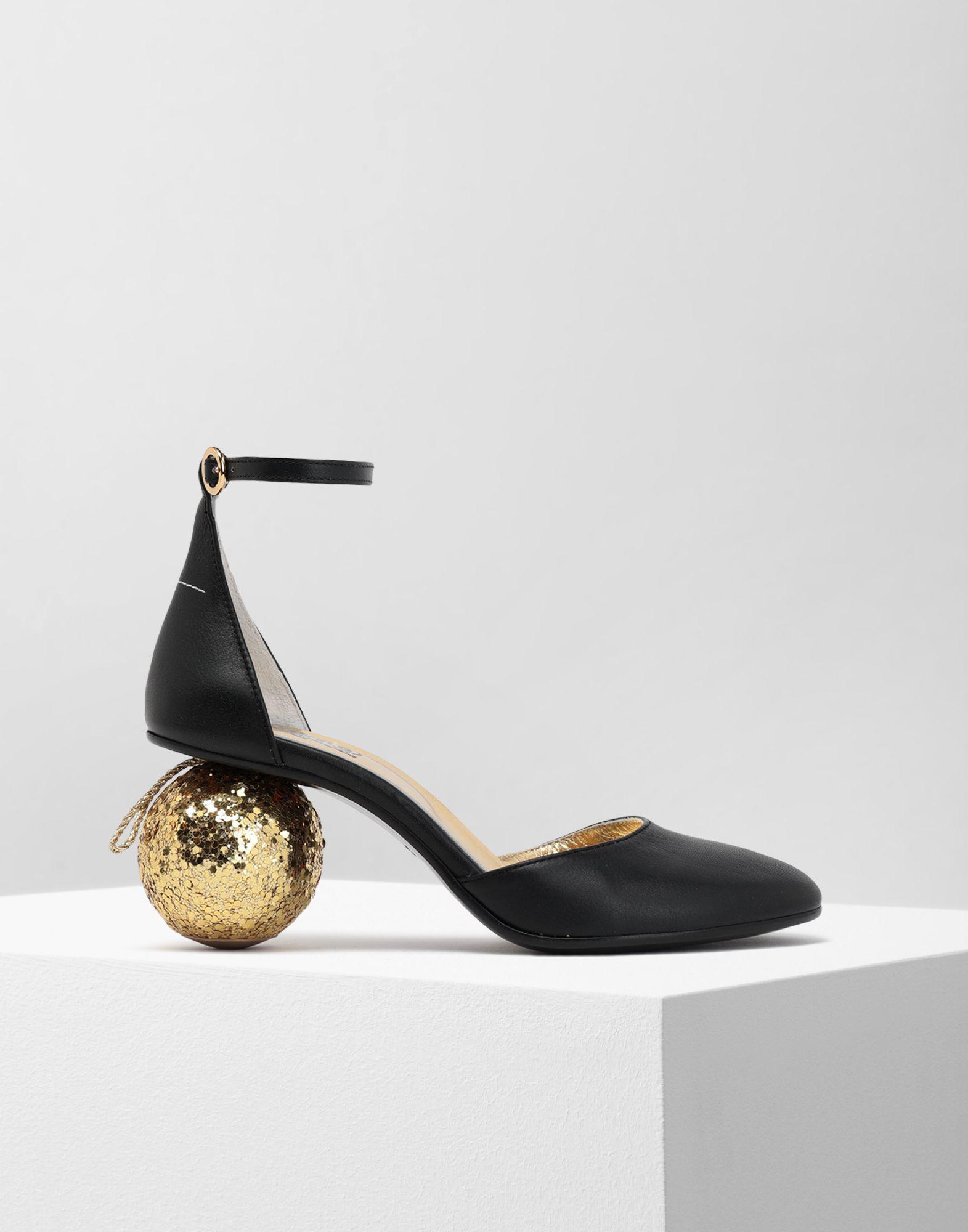 572e88962797 MM6 by Maison Martin Margiela. Women s Black Christmas Ball-heeled Sandals