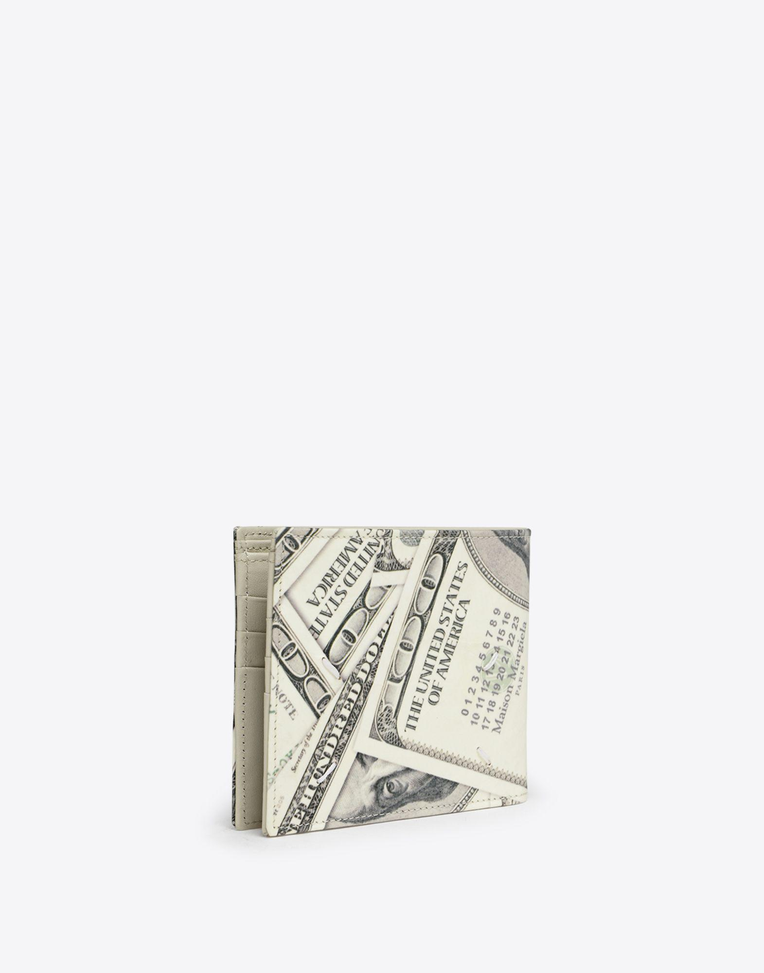 160dbd3465c5be Lyst Maison Margiela Dollar Print Wallet In White For Men. Maison Margiela  2x Martin 11 Dollar Bill Elastic Band Bifold Leather Wallet Size One