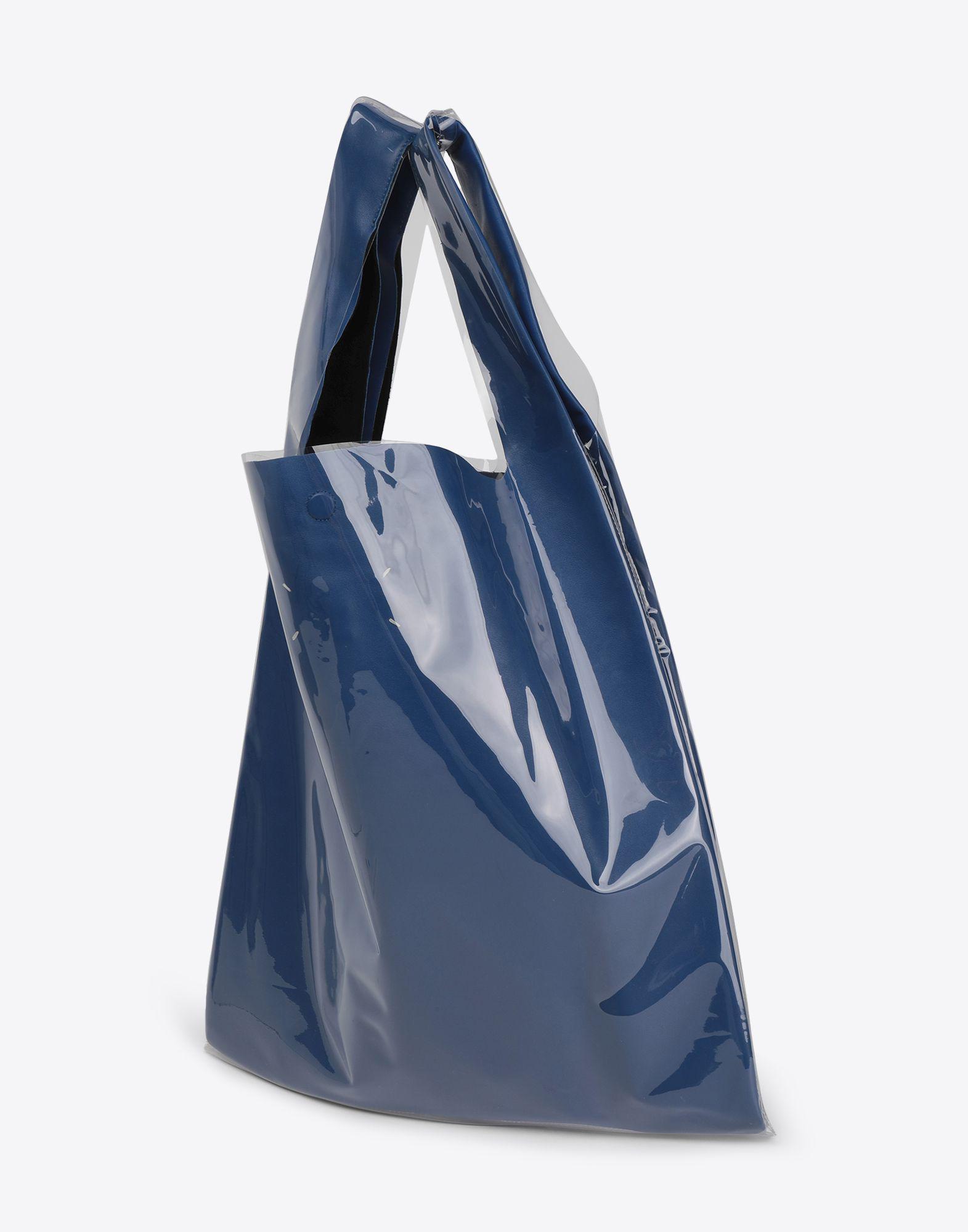 60215c0ab36ee Maison Margiela Pvc Coated Leather Shopper in Blue for Men - Lyst