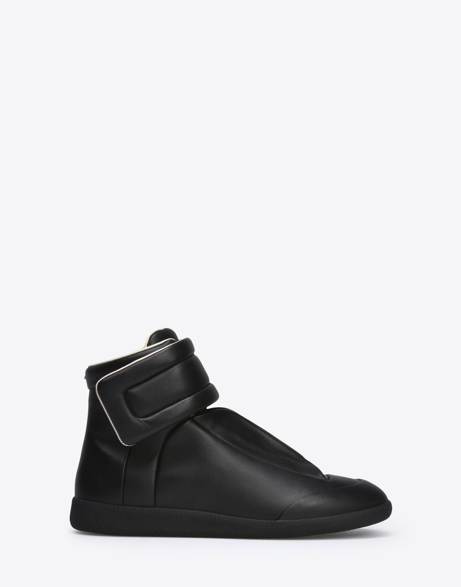 Maison margiela calfskin future high top trainers in black for Ma maison scarpe