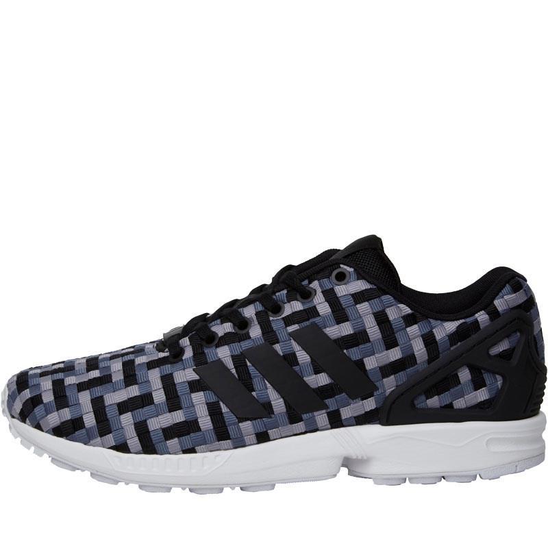 Adidas originali zx flusso formatori onix / nucleo nero / luce onix in grigio.